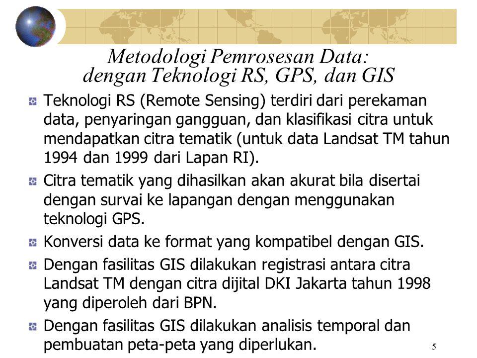 Metodologi Pemrosesan Data: dengan Teknologi RS, GPS, dan GIS