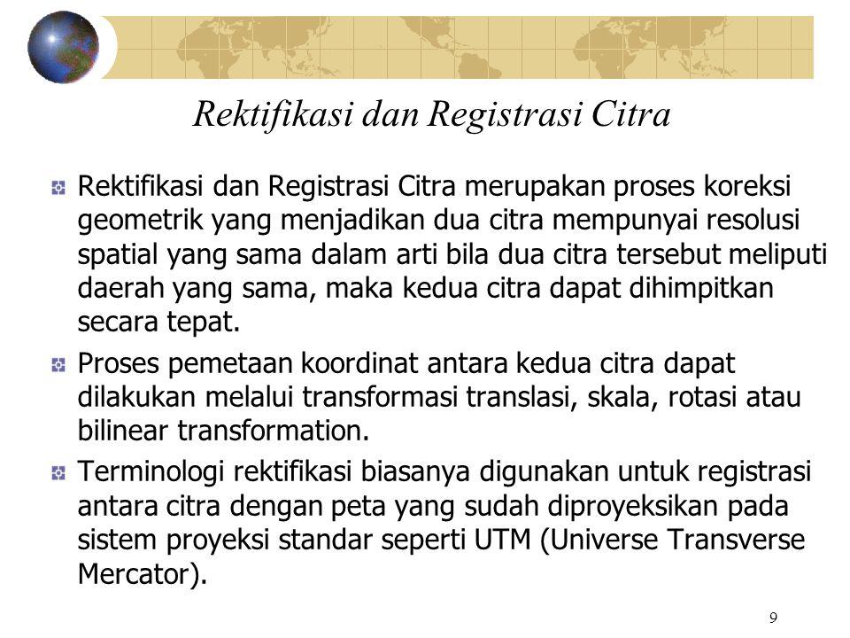 Rektifikasi dan Registrasi Citra