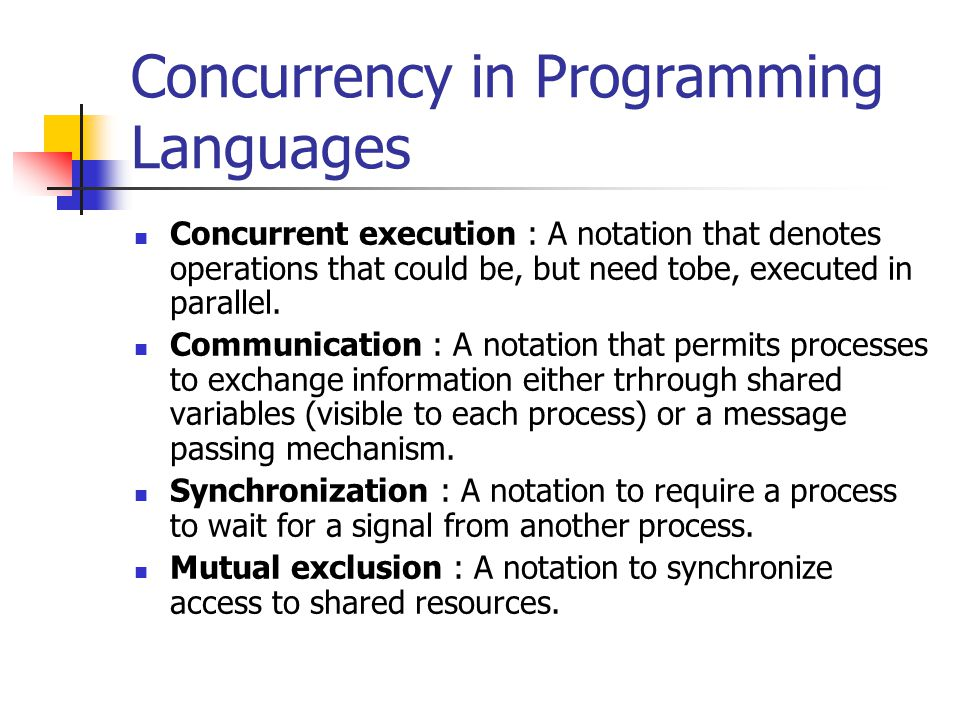 Concurrency in Programming Languages