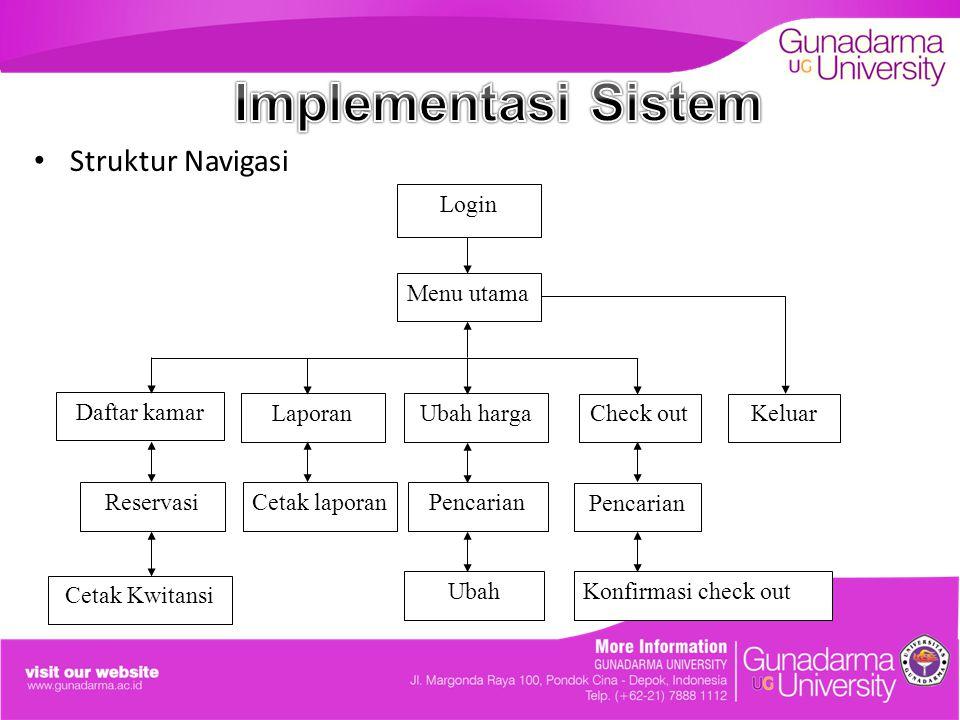 Implementasi Sistem Struktur Navigasi Pencarian Ubah