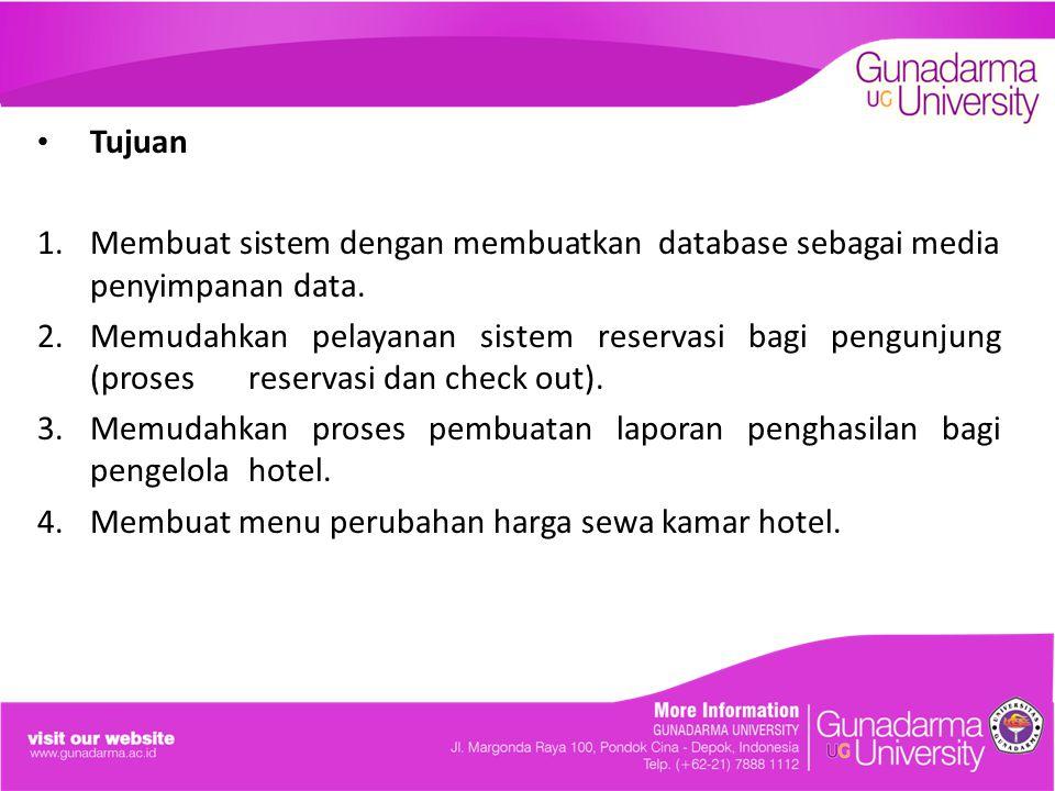 Memudahkan proses pembuatan laporan penghasilan bagi pengelola hotel.