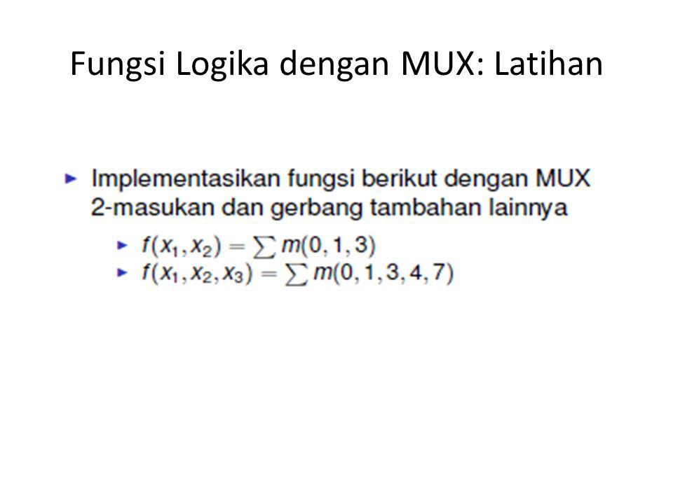 Fungsi Logika dengan MUX: Latihan