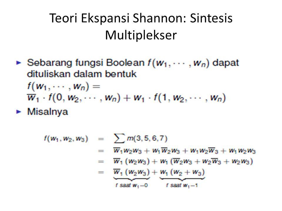 Teori Ekspansi Shannon: Sintesis Multiplekser