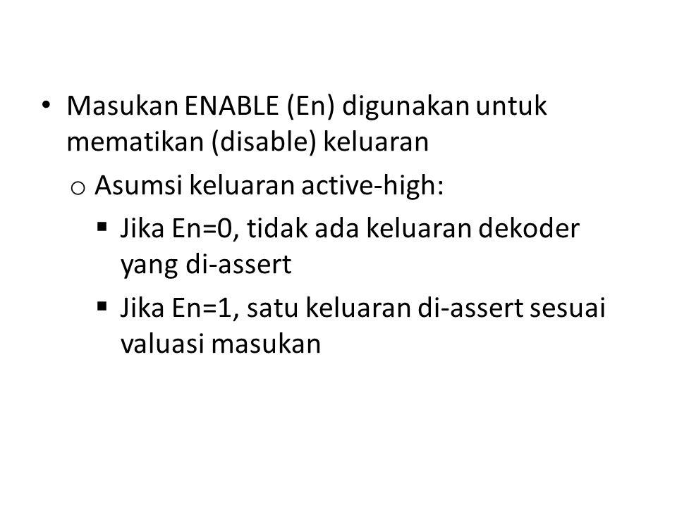 Masukan ENABLE (En) digunakan untuk mematikan (disable) keluaran