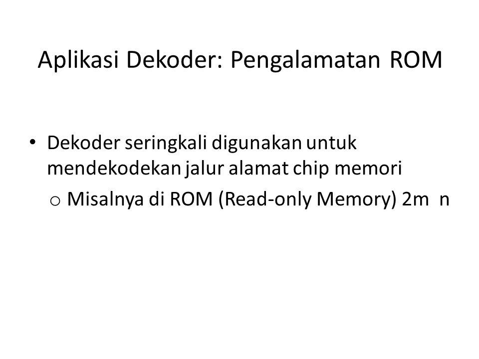 Aplikasi Dekoder: Pengalamatan ROM