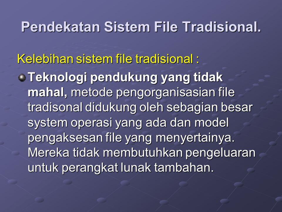 Pendekatan Sistem File Tradisional.