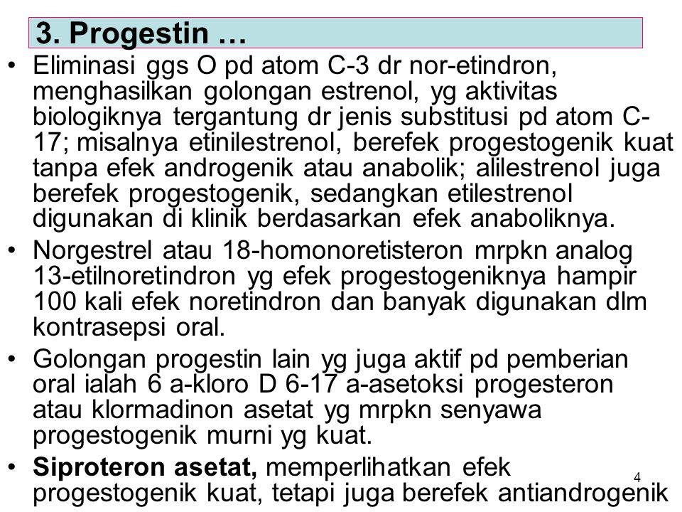 3. Progestin …