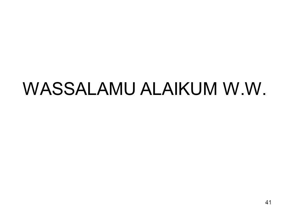 WASSALAMU ALAIKUM W.W.