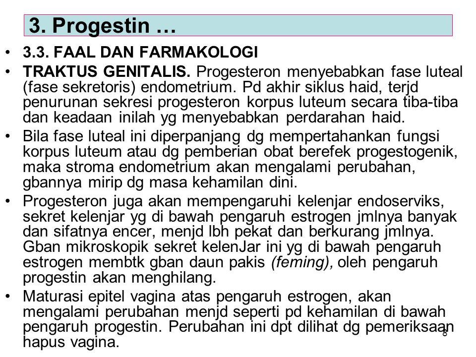 3. Progestin … 3.3. FAAL DAN FARMAKOLOGI