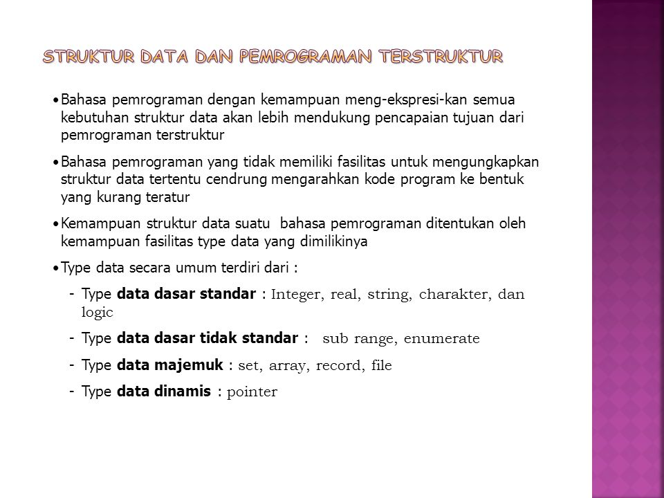 Struktur Data dan Pemrograman terstruktur