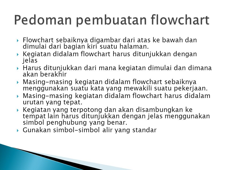 Pedoman pembuatan flowchart