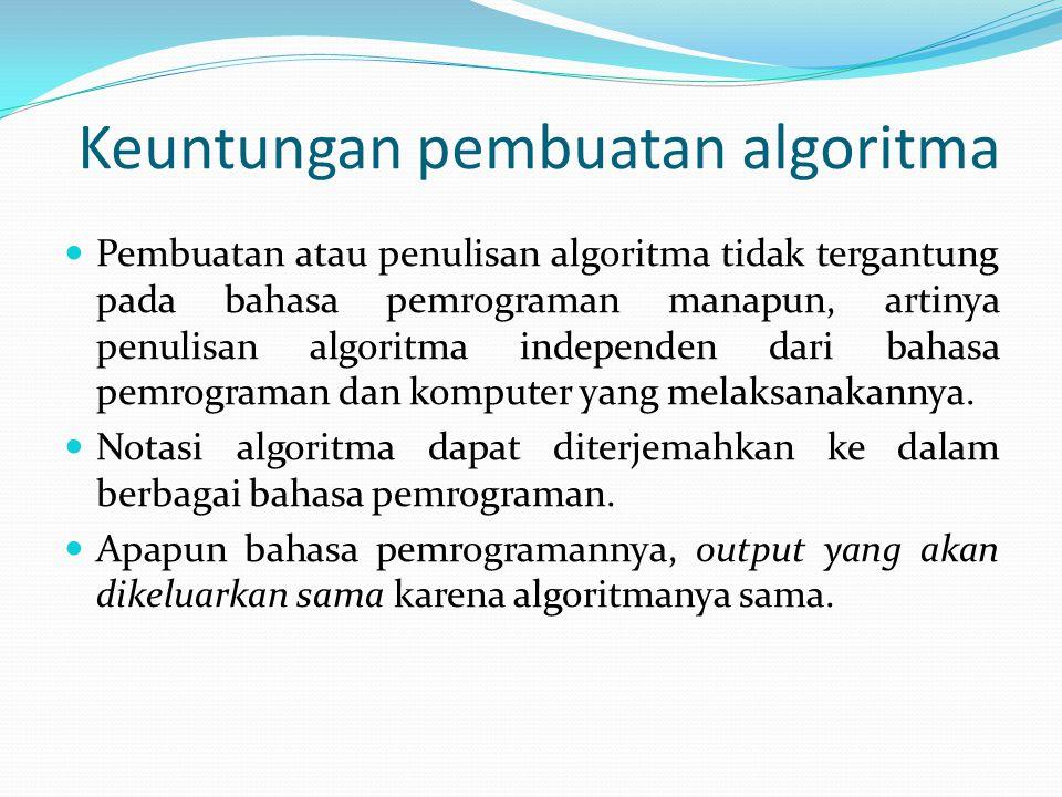 Keuntungan pembuatan algoritma