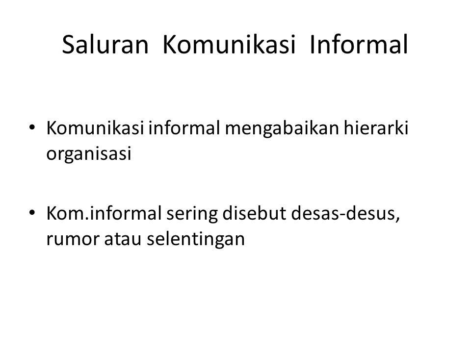 Saluran Komunikasi Informal