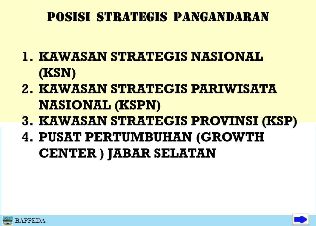 POSISI STRATEGIS PANGANDARAN