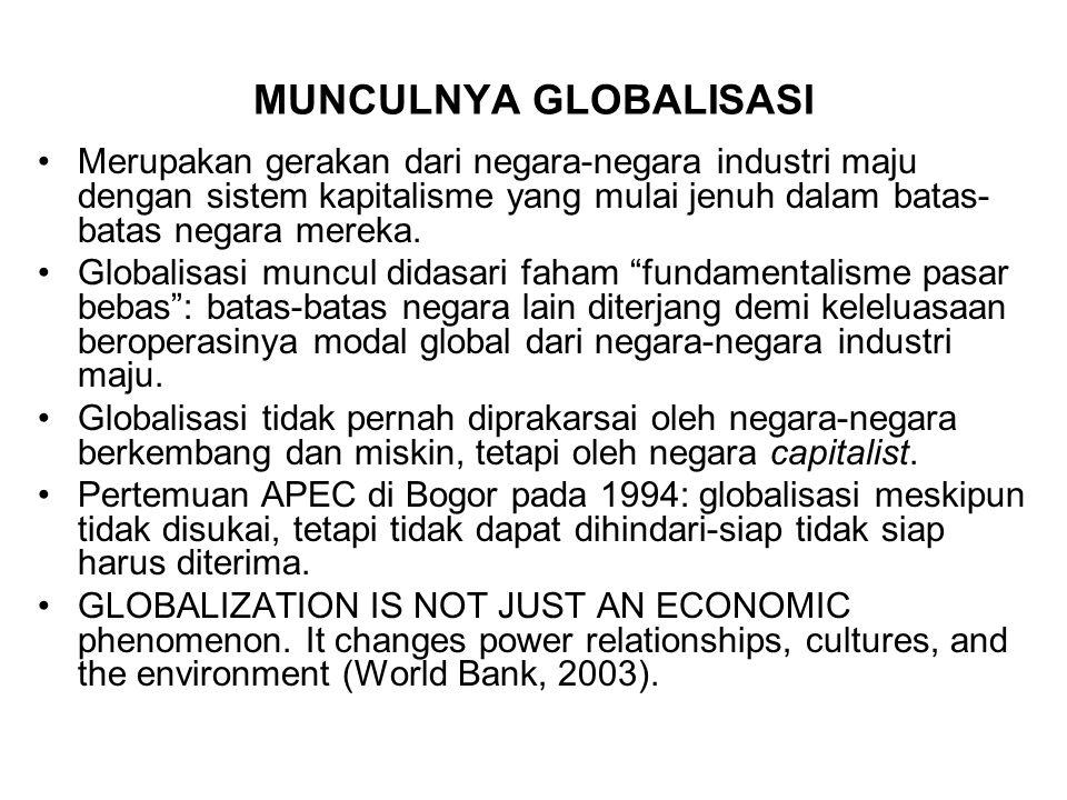 MUNCULNYA GLOBALISASI