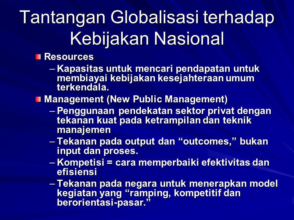 Tantangan Globalisasi terhadap Kebijakan Nasional