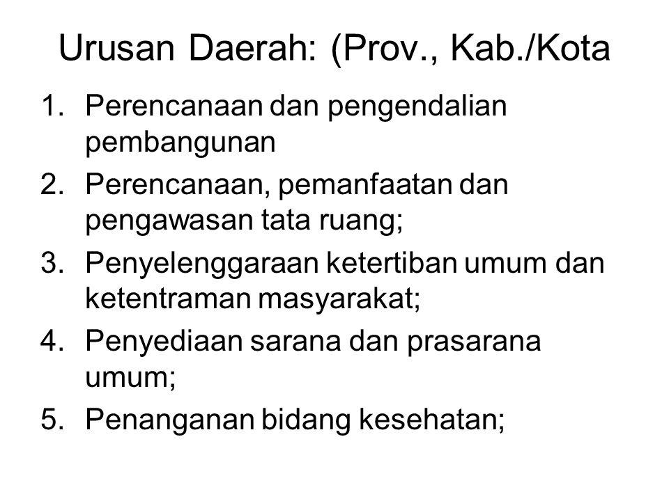 Urusan Daerah: (Prov., Kab./Kota