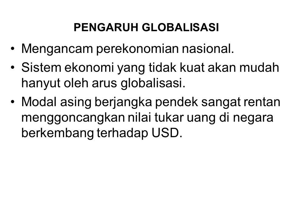 Mengancam perekonomian nasional.