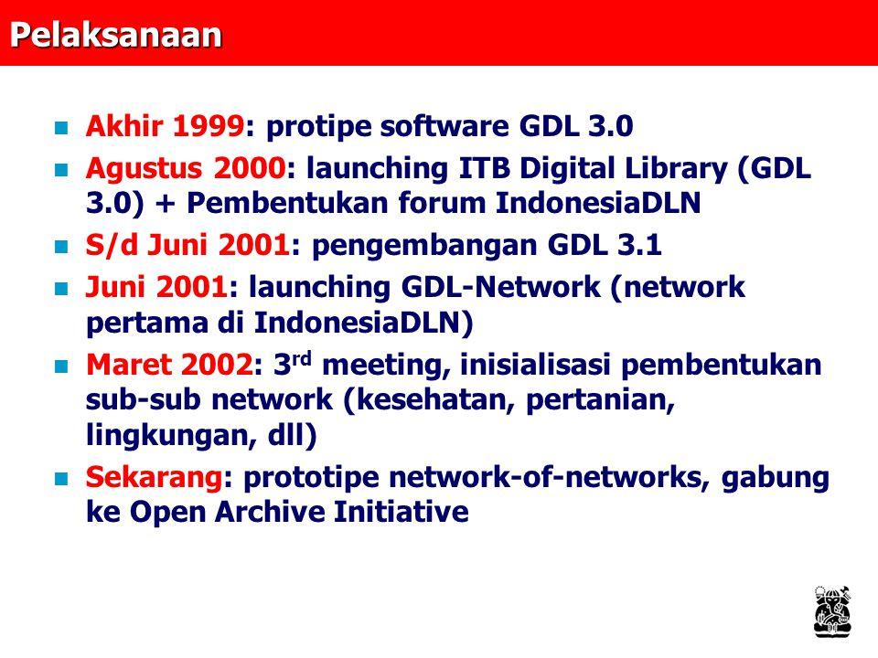 Pelaksanaan Akhir 1999: protipe software GDL 3.0