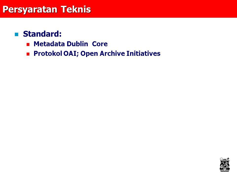 Persyaratan Teknis Standard: Metadata Dublin Core