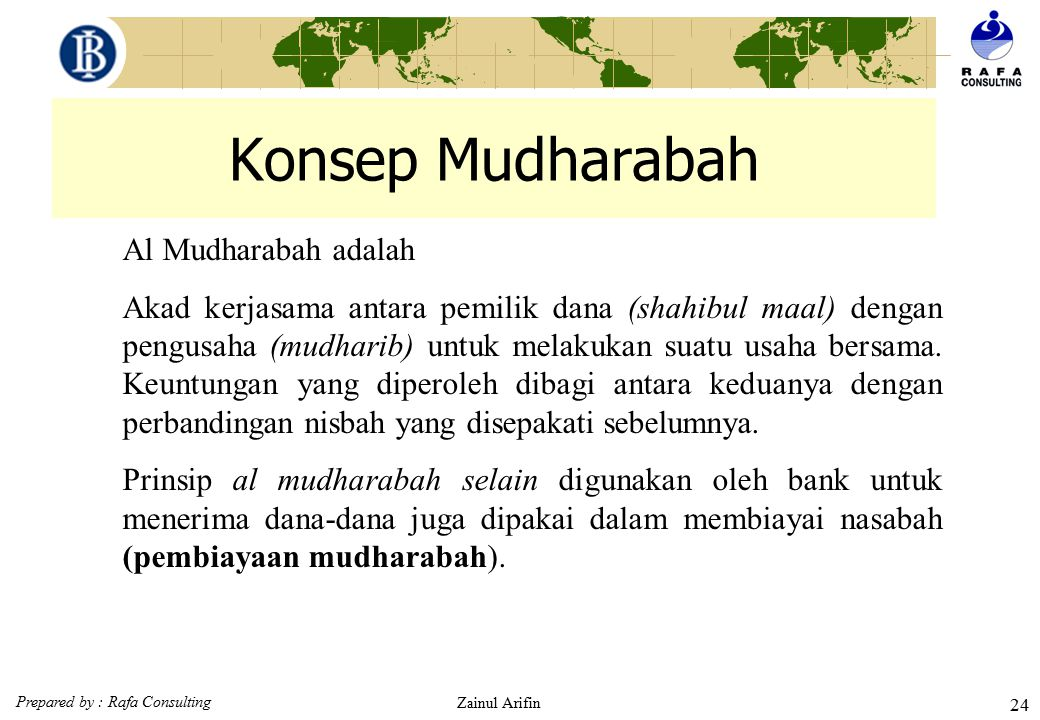 Konsep Mudharabah Al Mudharabah adalah