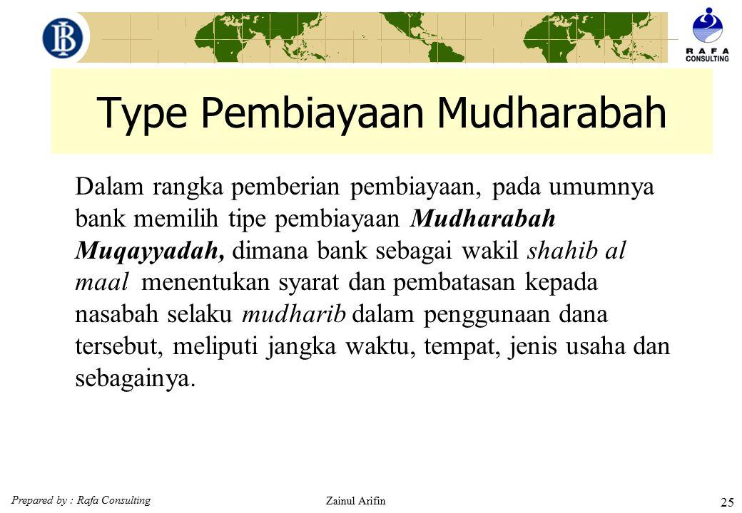 Type Pembiayaan Mudharabah