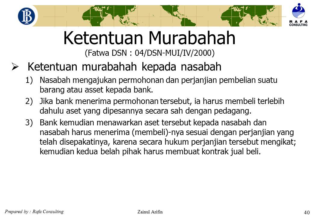 Ketentuan Murabahah (Fatwa DSN : 04/DSN-MUI/IV/2000)