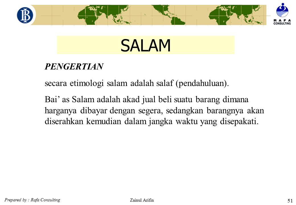 SALAM PENGERTIAN secara etimologi salam adalah salaf (pendahuluan).