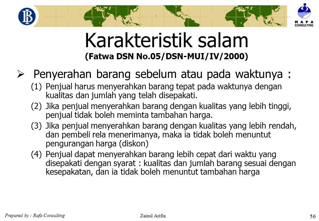 Karakteristik salam (Fatwa DSN No.05/DSN-MUI/IV/2000)