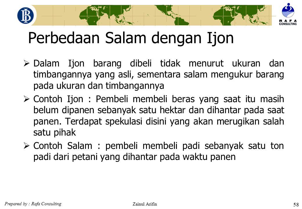 Perbedaan Salam dengan Ijon
