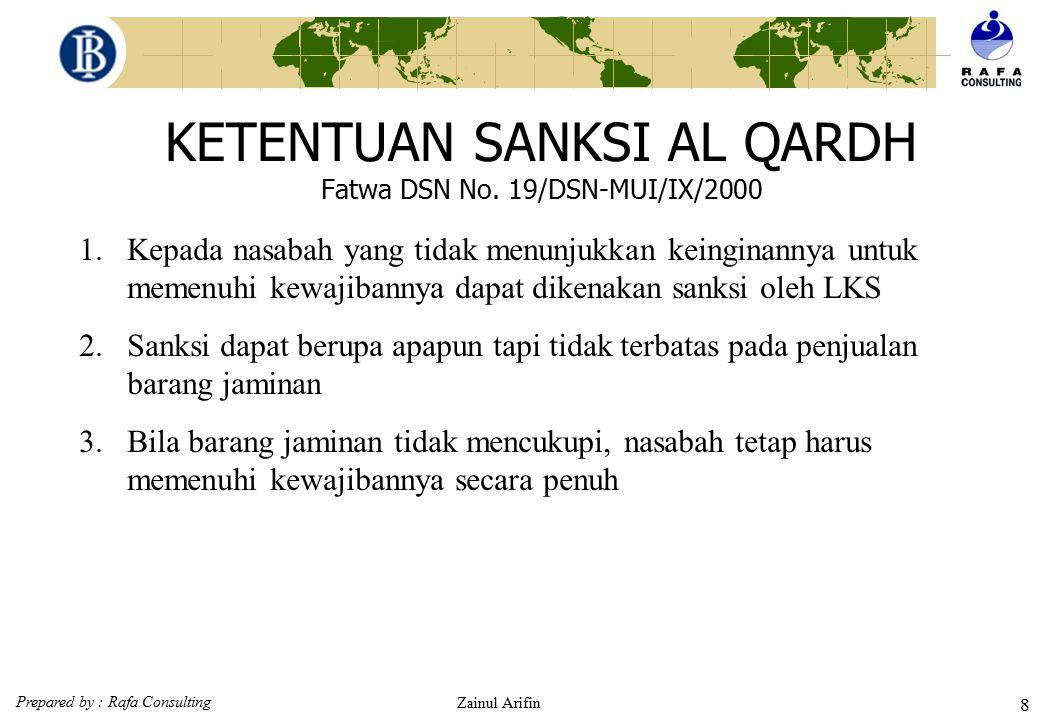 KETENTUAN SANKSI AL QARDH Fatwa DSN No. 19/DSN-MUI/IX/2000