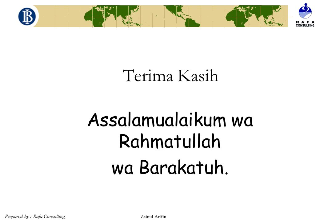 Assalamualaikum wa Rahmatullah wa Barakatuh.