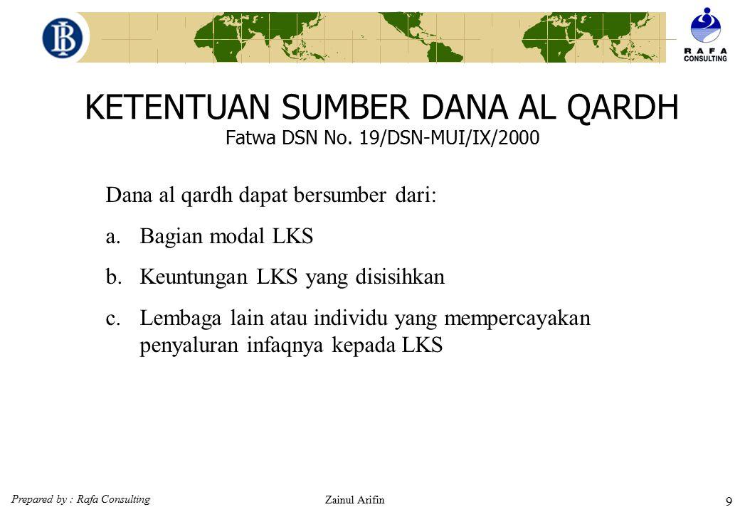 KETENTUAN SUMBER DANA AL QARDH Fatwa DSN No. 19/DSN-MUI/IX/2000