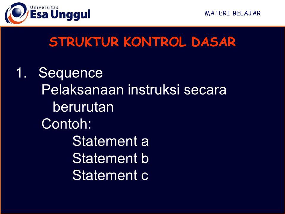 STRUKTUR KONTROL DASAR