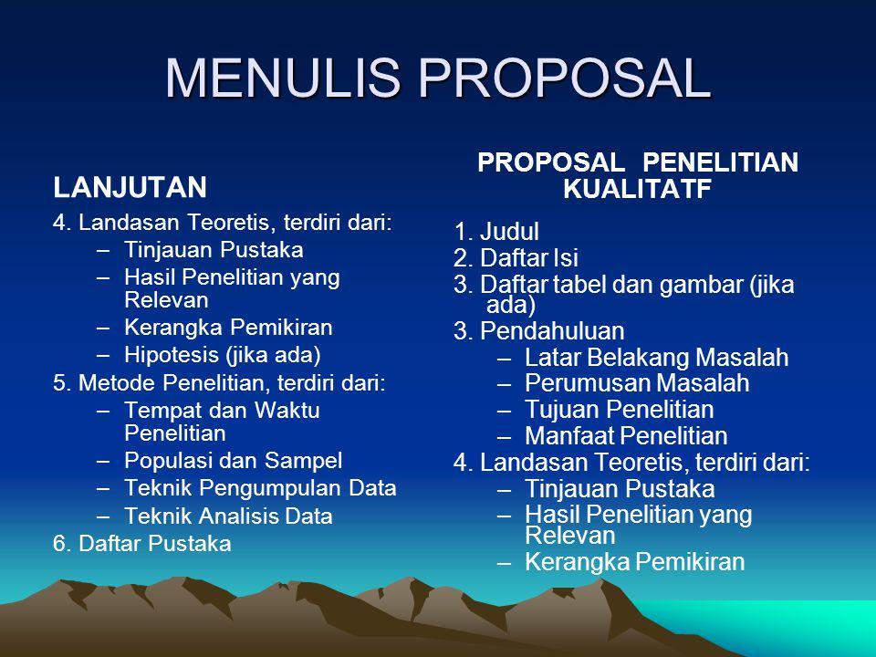 PROPOSAL PENELITIAN KUALITATF