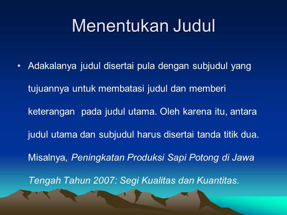Menentukan Judul