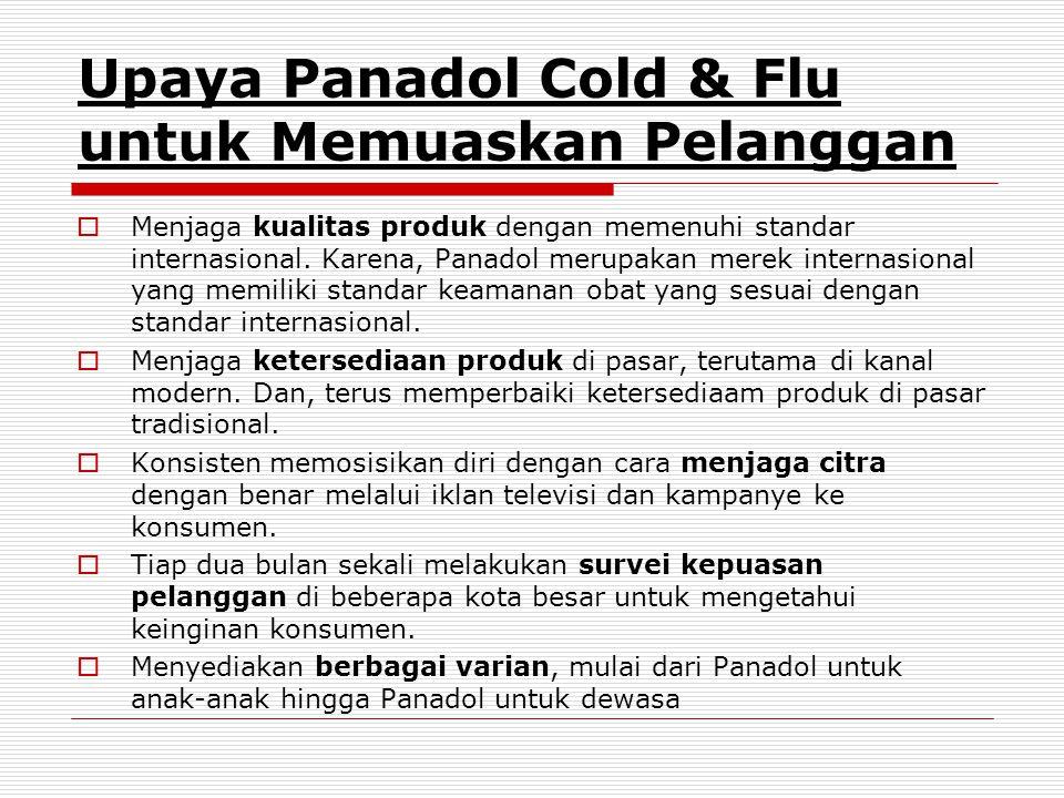 Upaya Panadol Cold & Flu untuk Memuaskan Pelanggan