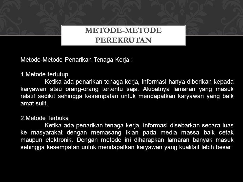 METODE-METODE PEREKRUTAN