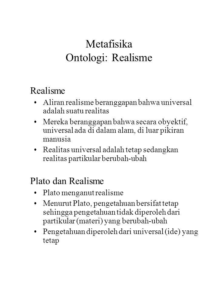 Metafisika Ontologi: Realisme