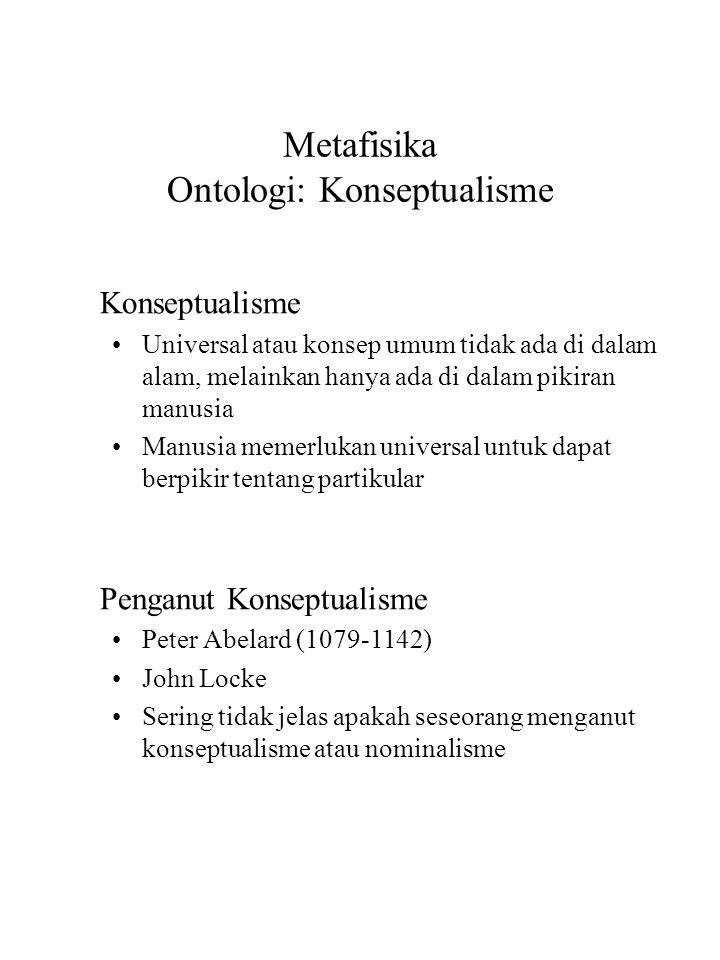 Metafisika Ontologi: Konseptualisme