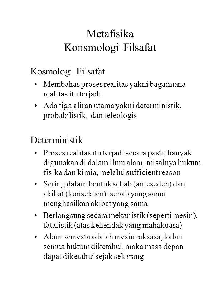 Metafisika Konsmologi Filsafat