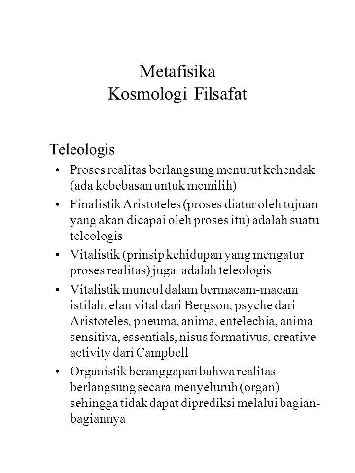 Metafisika Kosmologi Filsafat