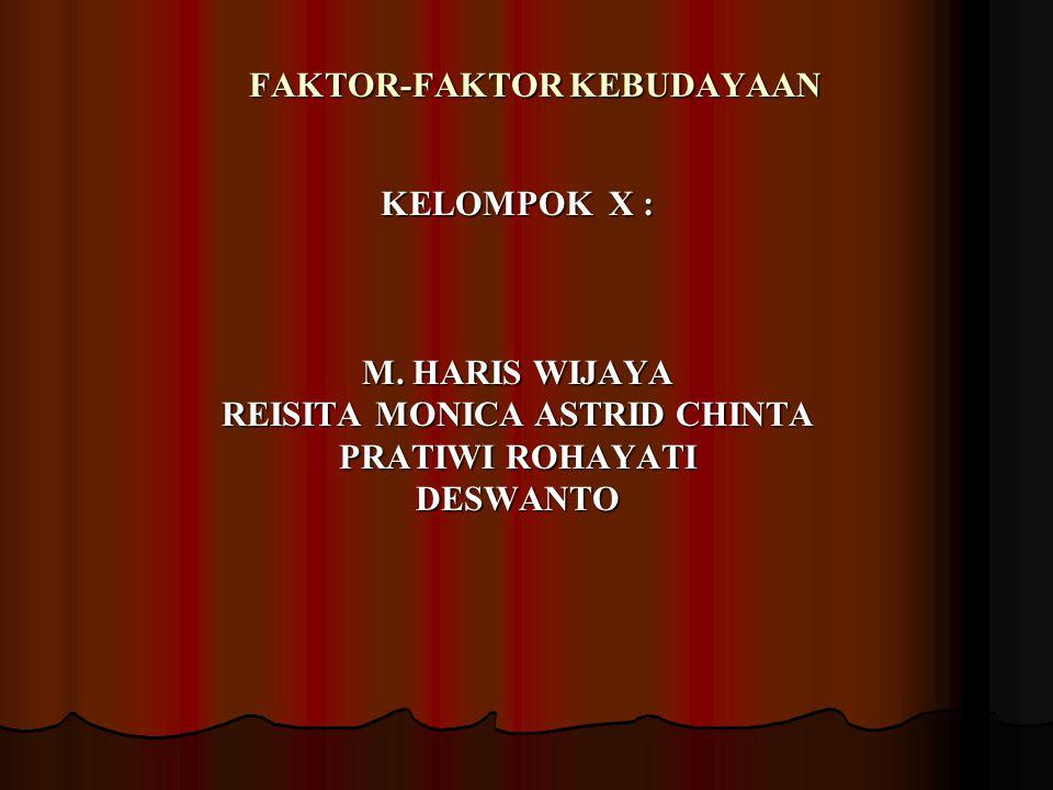 FAKTOR-FAKTOR KEBUDAYAAN