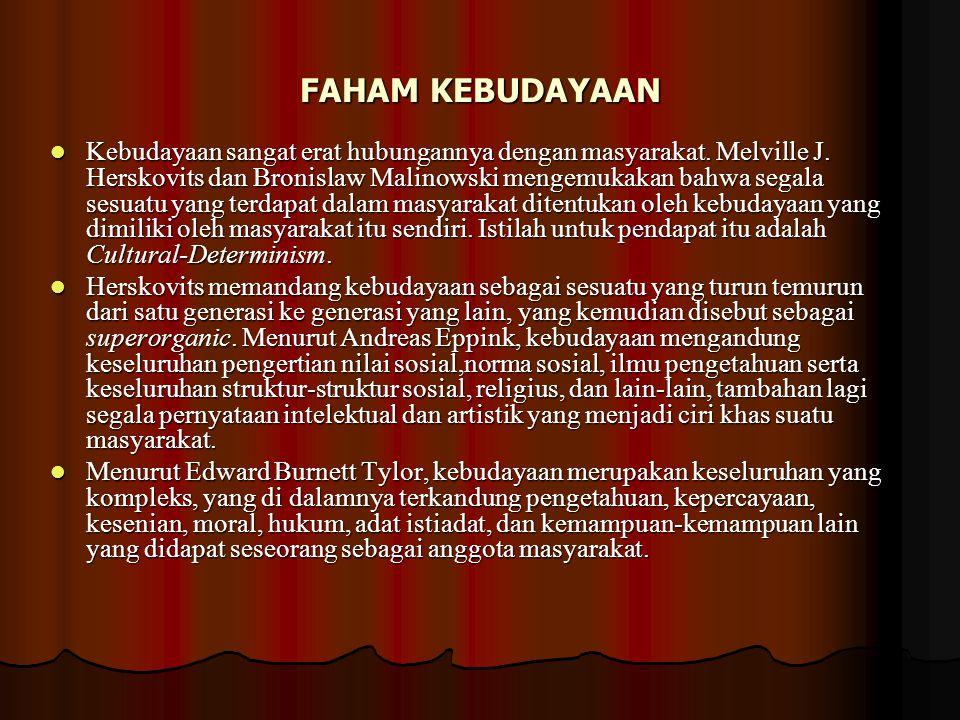FAHAM KEBUDAYAAN