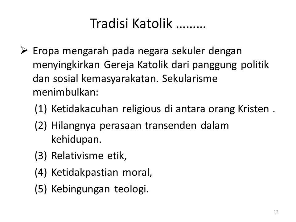 Tradisi Katolik ………