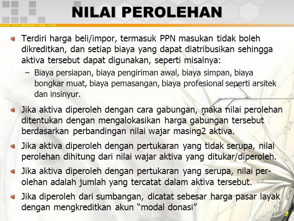 NILAI PEROLEHAN