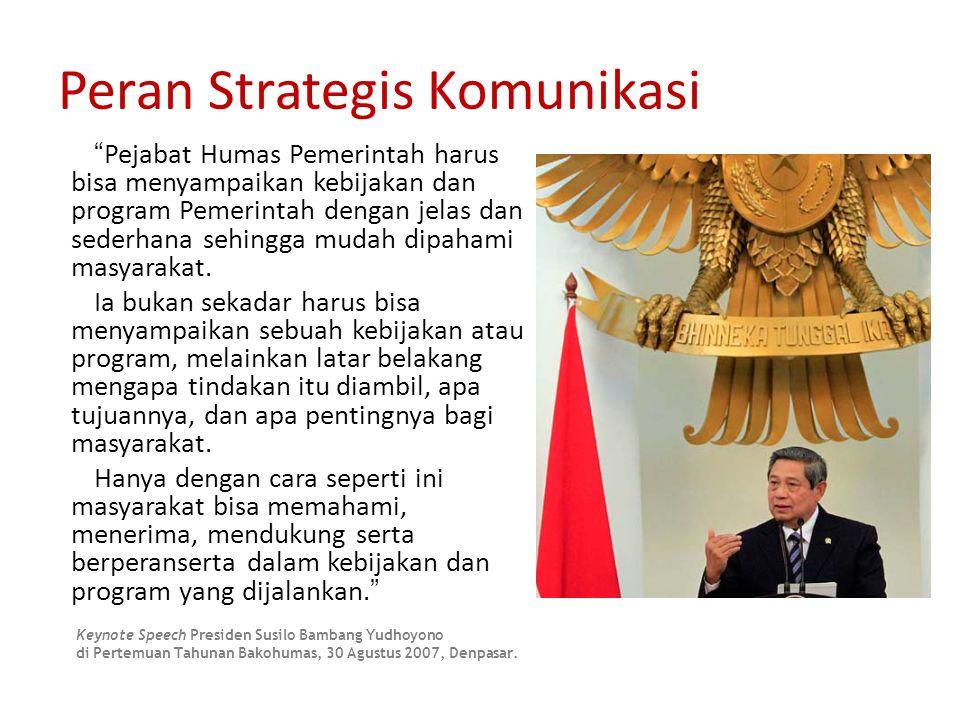 Peran Strategis Komunikasi