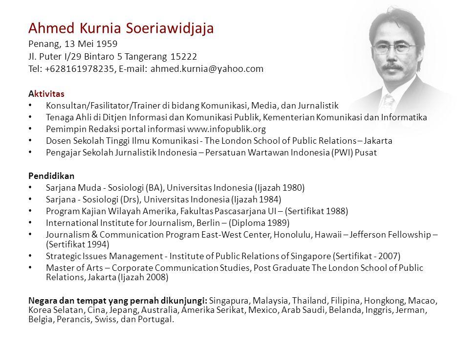 Ahmed Kurnia Soeriawidjaja Penang, 13 Mei 1959 Jl