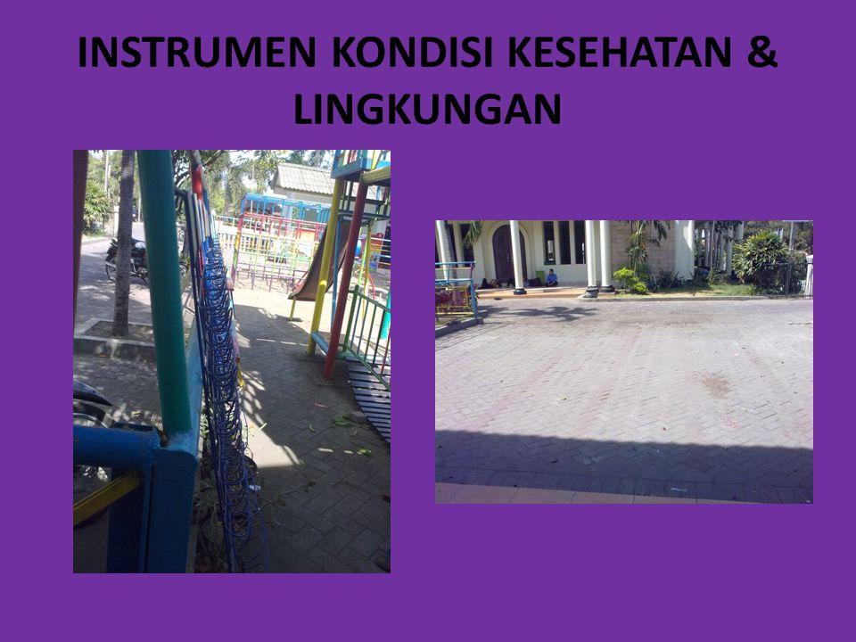 INSTRUMEN KONDISI KESEHATAN & LINGKUNGAN