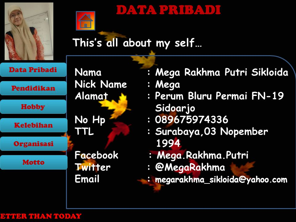 DATA PRIBADI This's all about my self…